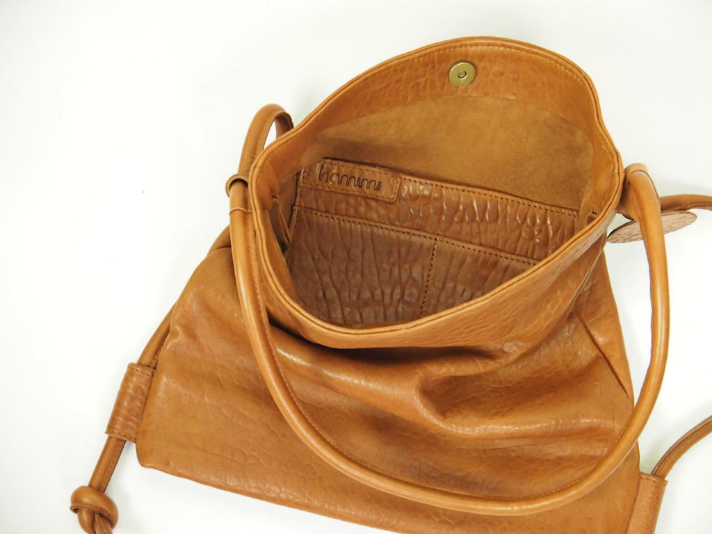 Hamimi Hayat Backpack/Shoulder Bag-Cognac