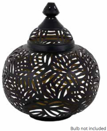 Casablanca Black Matki Table Lamp