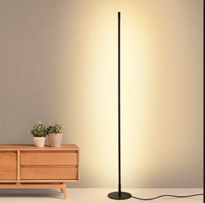 Contemporary LED Floor Lamp-Warm White-Round Base