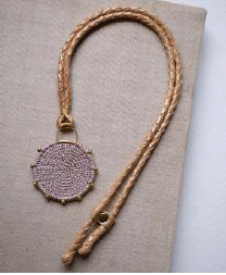 Hebba Crochet Disc  Necklace-Mink