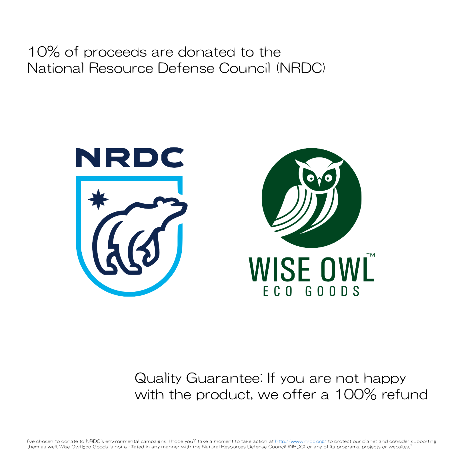 nrdc wise owl guarantee and donation pledge