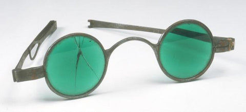 Green tinted glasses from around 1752