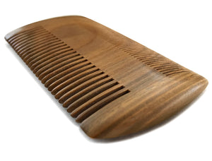 Beard Comb | Sandalwood Men's Grooming Tool, Pocket Size, Dual-Action