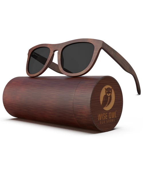 The Classic - Dark Frame / Grey Lens (Bamboo Sunglasses)