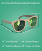 Forest - Natural Frame / Green Lens (Bamboo Sunglasses)