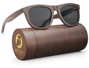 Wood Sunglasses Polarized for Men & Women - (Standard Size 140mm, Grey Lens)