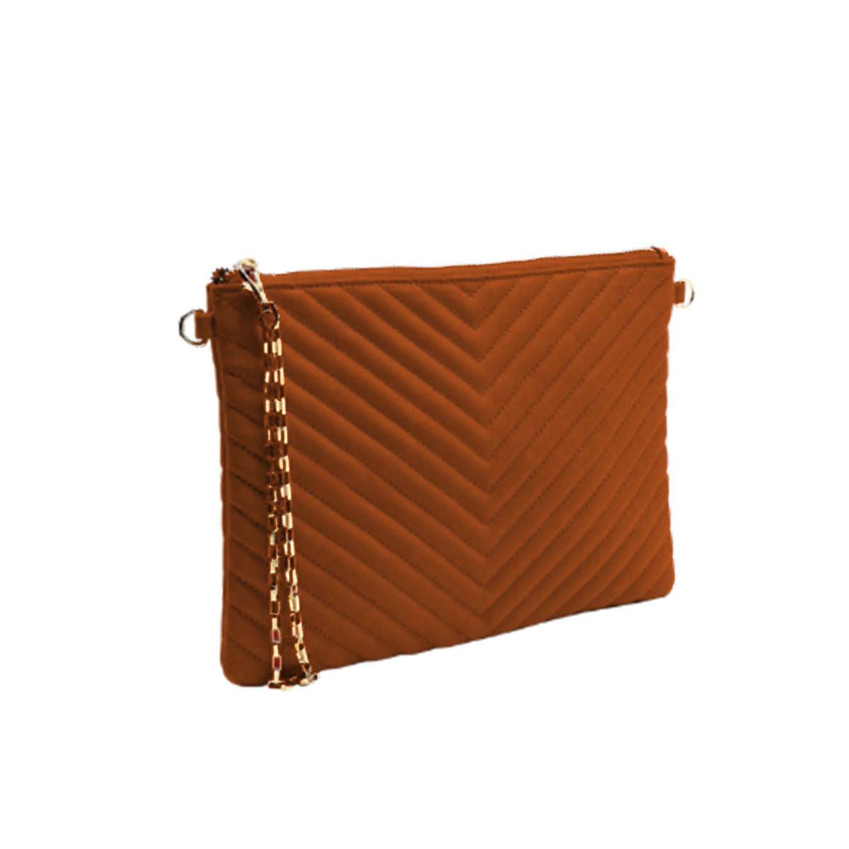 Chevron Quilted Clutch