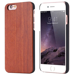 Iphone 5 5s 6 6s 7 Retro Real Wooden Phone Case Capa For Apple