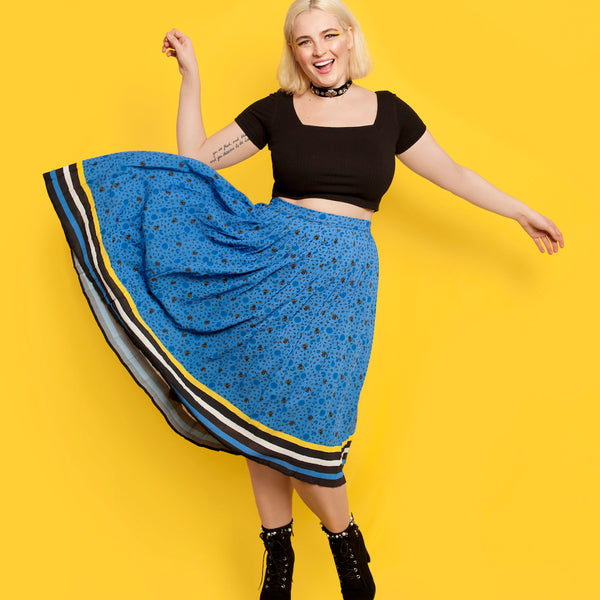 You Be You Printed Pleated Skirt