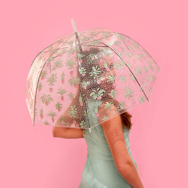 Self Care Plants Printed Bubble Umbrella