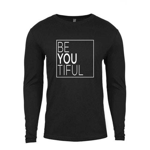 BeYouTiful Black Long-Sleeved Tee Shirt