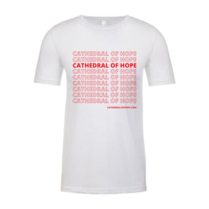 Cathedral of Hope White Short-Sleeved Tee Shirt