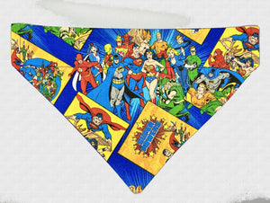 DC Super Friends No-Tie Dog Bandana