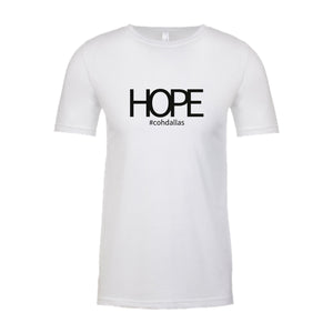 HOPE White Short-Sleeved Tee Shirt