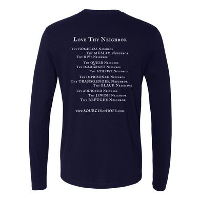 Love Thy Neighbor Midnight Navy Long-Sleeved Tee Shirt
