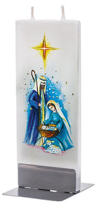 Nativity Scene Candle<p><p>