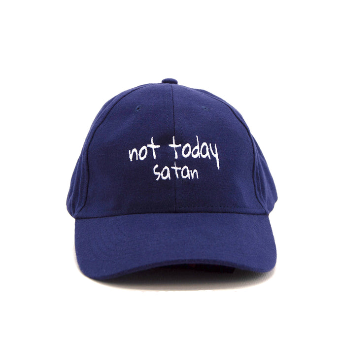 Not Today Satan Blue Ball Cap