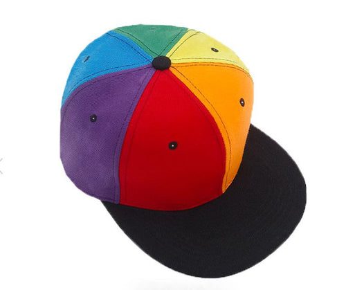 Rainbow Block Ball Cap