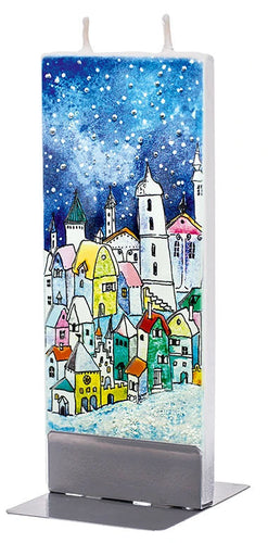 Winter Town, Blue Sky Candle<p><p>