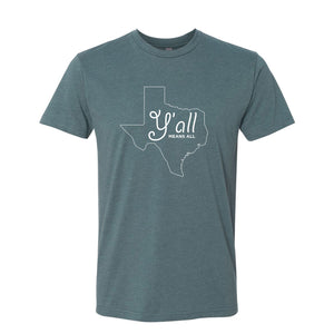 Y'all Means All Indigo Short-Sleeved Tee Shirt