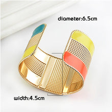 Color Block Cuff Bangle