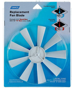 Replacement RV Vent Inverse Fan Blade
