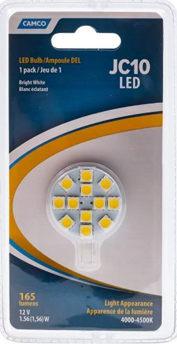LED Replacement Bulb (C10 G4 Chip, Bi-Pin)