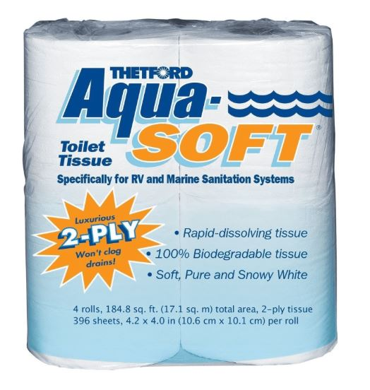 AQUA SOFT 2 PLY TISSUE 4 PK