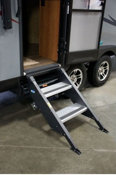 "Morryde The Step Above Fold Up Step - 2 Step for 26""-28"" Door"
