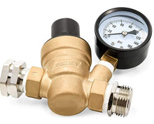 Load image into Gallery viewer, Adjustable Brass Water Pressure Regulator
