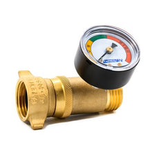 Load image into Gallery viewer, Brass Water Pressure Regulator with Gauge