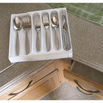 Adjustable Cutlery Tray, White