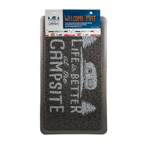Life is Better at the Campsite Gray Scrub Rug