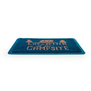 Life is Better at the Campsite Blue Scrub Rug