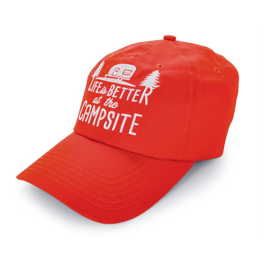 Life is Better at the Campsite Hat Red