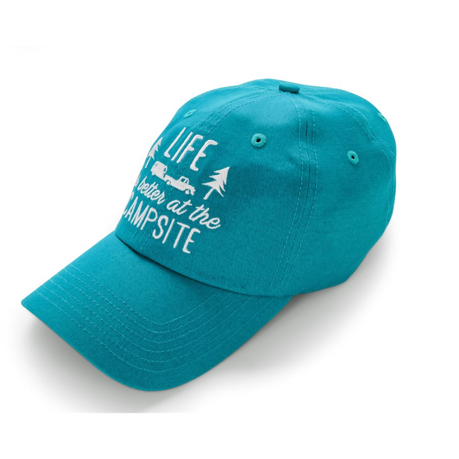Life is Better at the Campsite Hat Teal