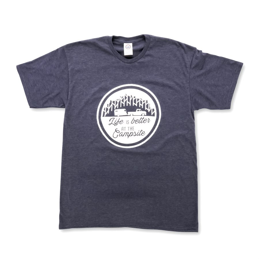 LIFE IS BETTER AT THE CAMPSITE SHIRT-  NAVY XXL
