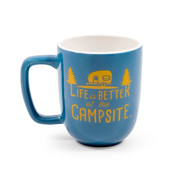 Life is Better at the Campsite Mug- Blue