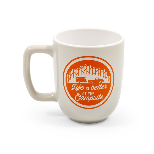 Life is Better at the Campsite Mug- Gray