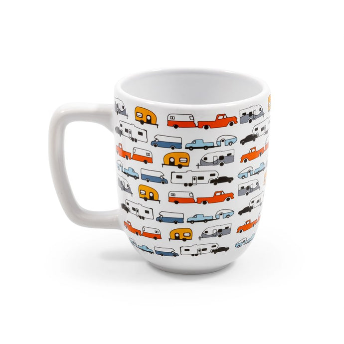 Life is Better at the Campsite Mug- RV Pattern