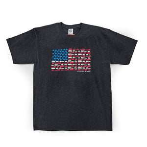 Copy of LIFE IS BETTER AT THE CAMPSITE SHIRT- PATRIOTIC- XL