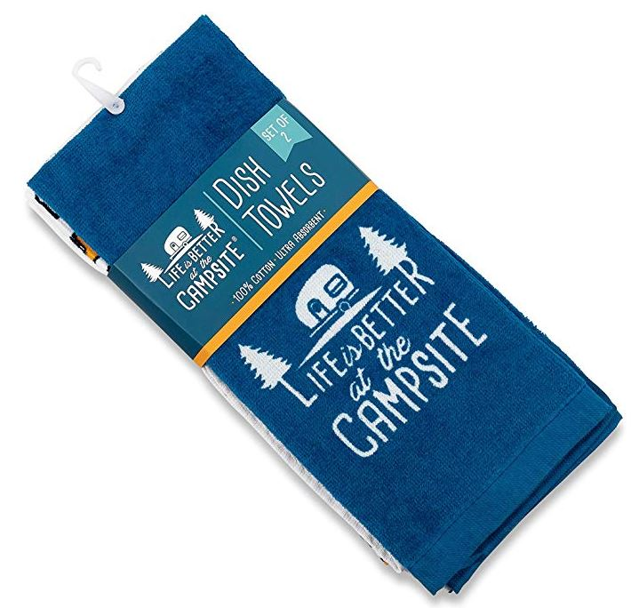 Life is Better at The Campsite RV Towel Perfect for Drying Hands and Dishes