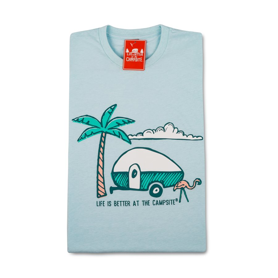 LIFE IS BETTER AT THE CAMPSITE SHIRT AT THE BEACH- MEDIUM