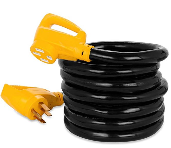 15' PowerGrip Heavy-Duty Outdoor 50-Amp Extension Cord for RV and Auto