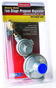Horizontal Two Stage Propane Regulator with POL