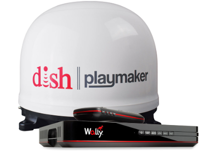 DISH PLAYMAKER, WHITE, WITH DISH WALLY RECEIVER, BUNDLE