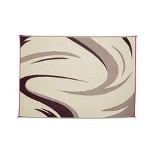 Load image into Gallery viewer, Reversible Patio Mat 8X11 Burgundy/ Tan