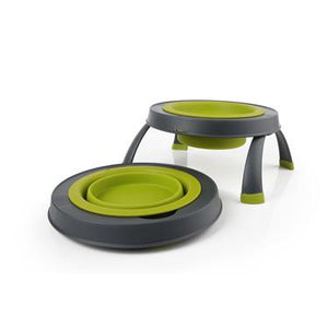 Pet Dish; Collapsible Single Elevated Feeder