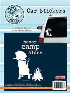 Never Camp Alone Pet Sticker