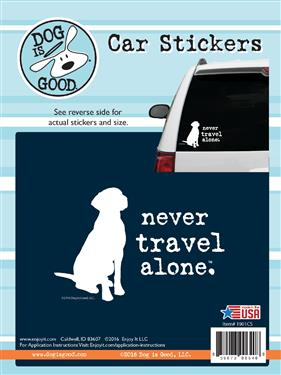 Never Travel Alone Pet Sticker